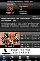 Screenshot of Lloydminster Bobcats Official