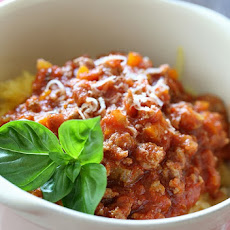 Spaghetti Squash with Meat Ragu
