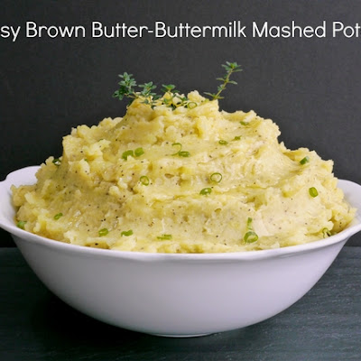 Cheesy Brown Butter-Buttermilk Mashed Potatoes