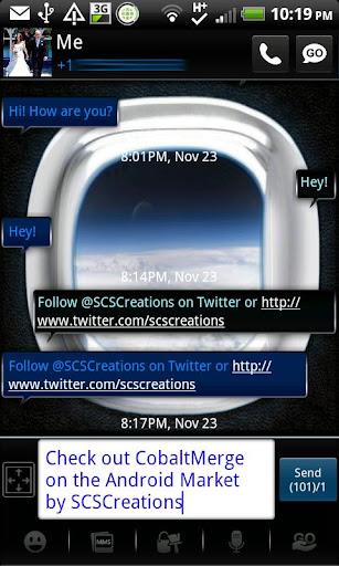 GO SMS - Cobalt Merge