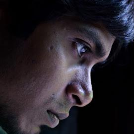 Visionary by Arnab Bhattacharyya - People Portraits of Men