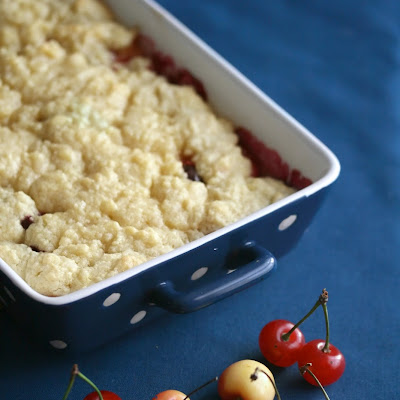 Double Cherry Almond Crumble