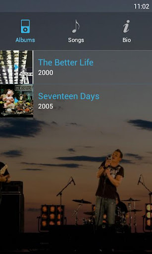 ics-blue-ubermusic-skin for android screenshot