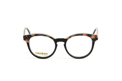 "Happiness Shades. Black floral Cat eye frames. ""Saint"""