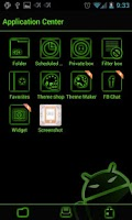 Screenshot of GOSMS PoisonGreen Theme - Free