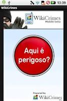 Screenshot of WikiCrimes Mobile