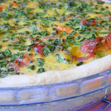 Broccoli, Potato and Bacon Quiche