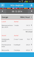 Screenshot of Mijn Eetmeter