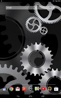 Screenshot of Steampunk Gears Wallpaper Free