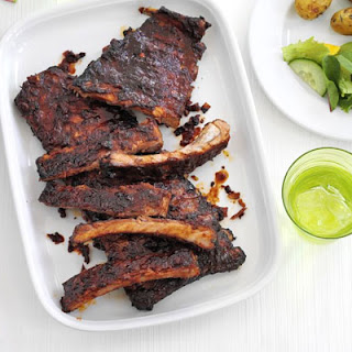 Sticky Ribs With Roast Potato Salad
