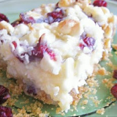 White Chocolate, Cranberry and Coconut Bar Cookies