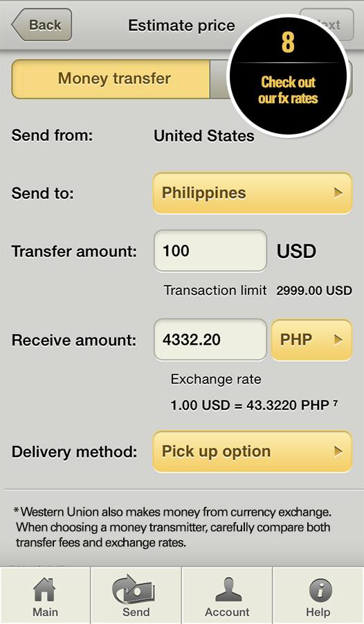 Western Union Money Transfer Screenshot 7