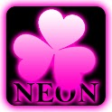 Pink Neon theme Go Launcher EX icon