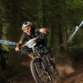 Enduro mountain biker by Turnip Towers - Sports & Fitness Cycling