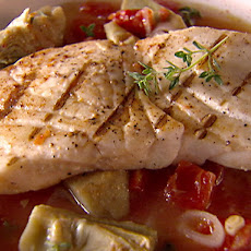 Halibut in Artichoke and Tomato Broth