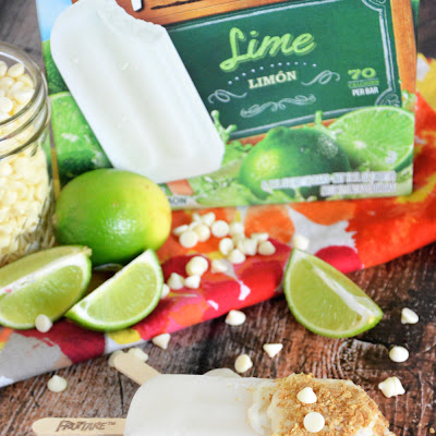 Frozen Lime Bars with Graham Cracker & Vanilla Yogurt Magic Shell