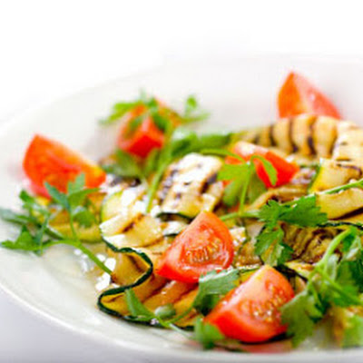 Grilled Zucchini and Tomato Salad