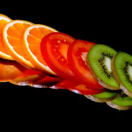 orange,kiwi tomatoes by LADOCKi Elvira - Food & Drink Fruits & Vegetables ( orange, kiwi )