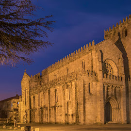 Leça do Balio monastery by José Pedro Whiteman - Buildings & Architecture Statues & Monuments ( hospitalários, building, night photography, monastery, santiago, architecture )