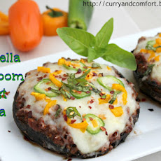 Portabella Mushroom Crust Pizza (Low Carb Pizza)