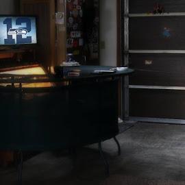 Garage hangout by Rog MC - Buildings & Architecture Homes ( seahawks, garage, mancave )