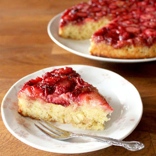 Lemon Strawberry Upside Down Cake
