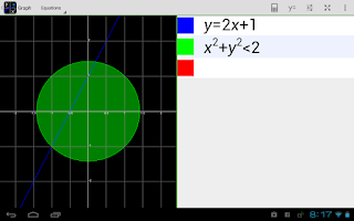Screenshot of MathAlly Graphing Calculator
