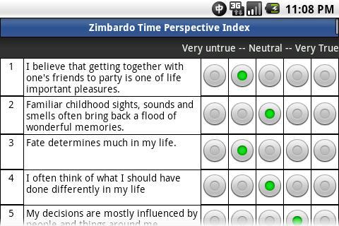 Zimbardo Time Perspectives