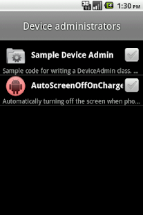 AutoScreenOffOnCharge - screenshot
