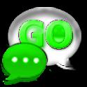 GO SMS Pro Kiwi Glass Theme
