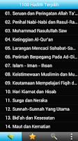 Screenshot of 1100 Hadith Terpilih Indonesia