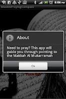 Screenshot of Muslims Praying Direction