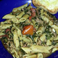 Ground Beef Tomato Spinach Casserole