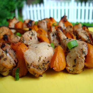 Rabbit and Apricot Skewers