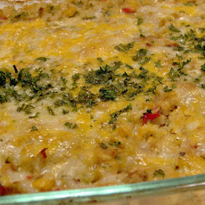 Leftover Chicken or Turkey Rice Casserole