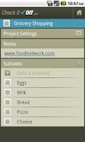 Screenshot of CheckItOff - to-do list