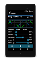 Screenshot of Frequency Sound Generator