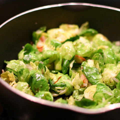 Sauteed Brussels Sprouts with Lemon and Almonds