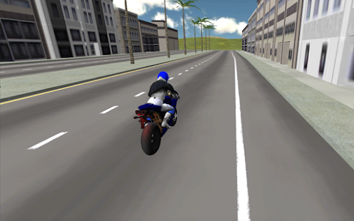 Motorbike driver 3D - screenshot