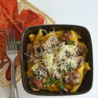 Butternut Squash Pasta with Sage Mushrooms #PastaFits #MC