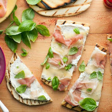 Italian Flat Bread (Piadina) with Fontina and Prosciutto