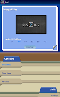 Screenshot of Blackboard Math™ Decimals Demo
