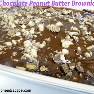 Chocolate Peanut Butter Brownie Bars