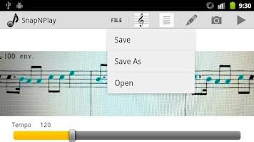 Screenshot of SnapNPlay music Demo