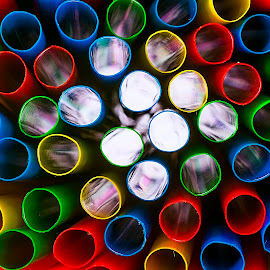 Light down the tube by Paul Telford - Abstract Patterns ( pattern, random, straws, light, paul telford photography, colours,  )