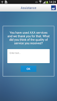 Screenshot of AXA Assistance