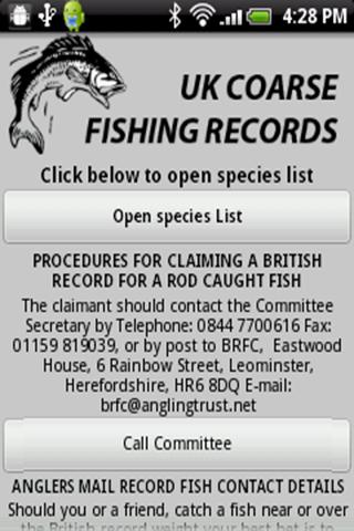 UK Coarse Fishing Records