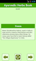 Screenshot of Ayurvedic Herbs✽ Medicine Book