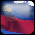 3D Liechtenstein Flag + icon