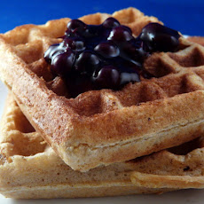 Cornmeal Sourdough Waffles